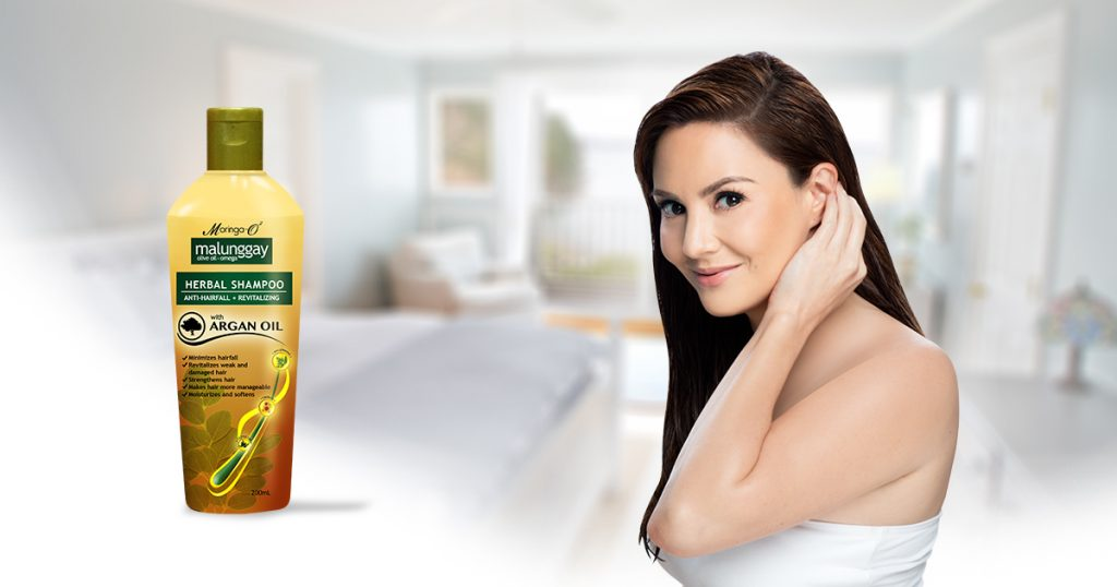 Cheska Garcia with Moringa Shampoo