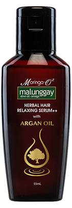 Moringa argan oil herbal hair care product