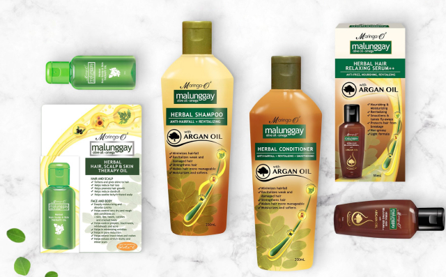 Moringa argan oil shampoo and conditioner haircare products